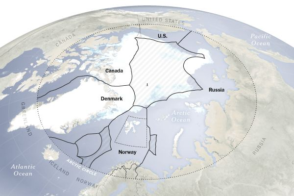 Rushing for the Arctic's Riches.. but the region is not likely to surrender its resources, easily. (Article)