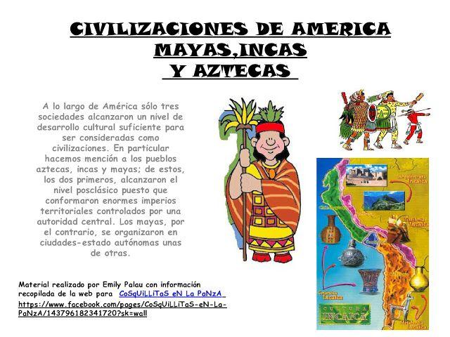 CoSqUiLLiTaS eN La PaNzA BLoGs: CIVILIZACIONES DE AMÉRICA MAYAS ,INCAS Y AZTECAS