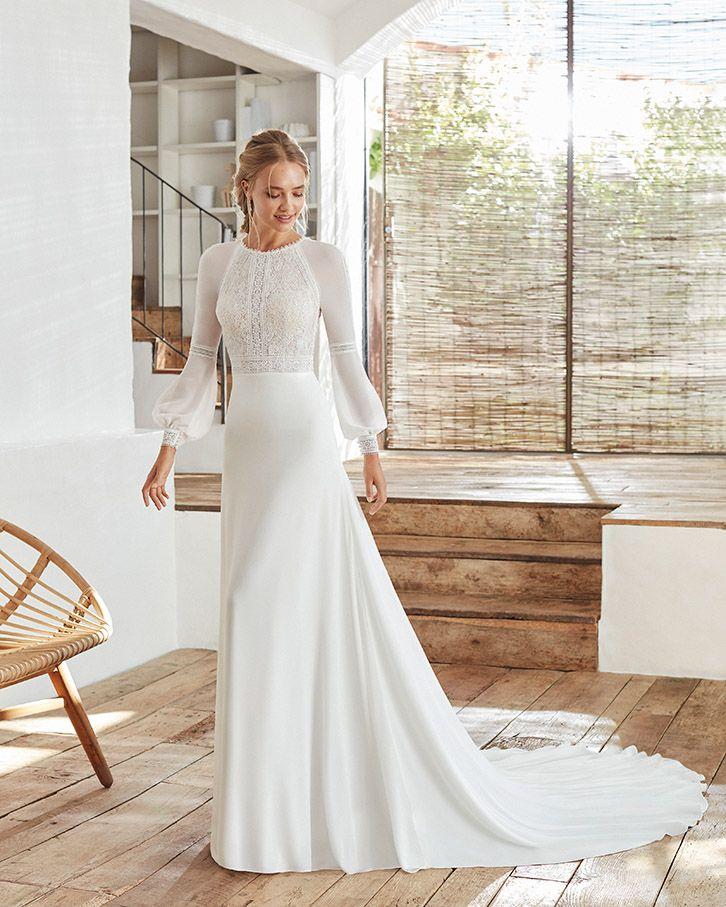 Calanda Rosa Clara Kollektion 2020 Erhaltlich Bei Brautmoden Tegernsee Brautkleid Brautkleider Hoch Schwarzes Kleid Zur Hochzeit Brautmode Kleid Hochzeit