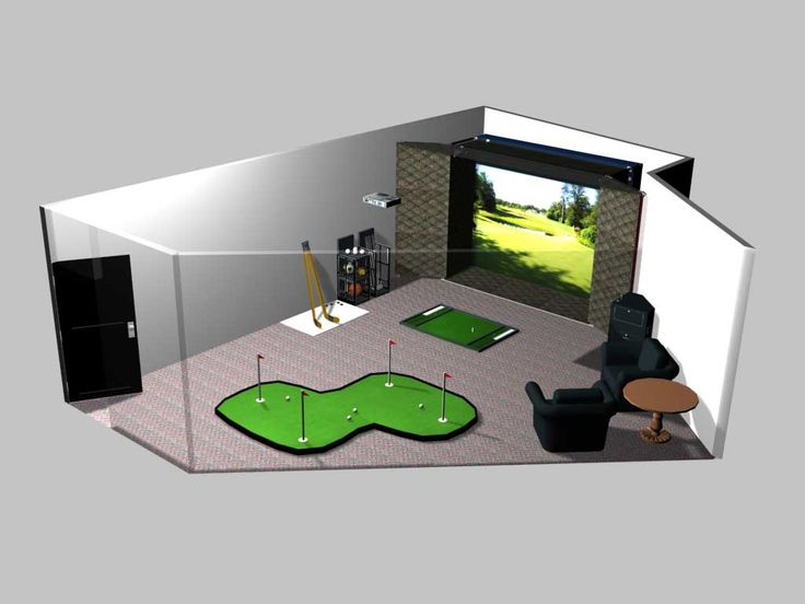 Indoor Golf Simulator Room | All Reproduction And Distribution Rights  Reserved To Tee Intact. | Golf | Pinterest | Golf Simulators, Golf And Room