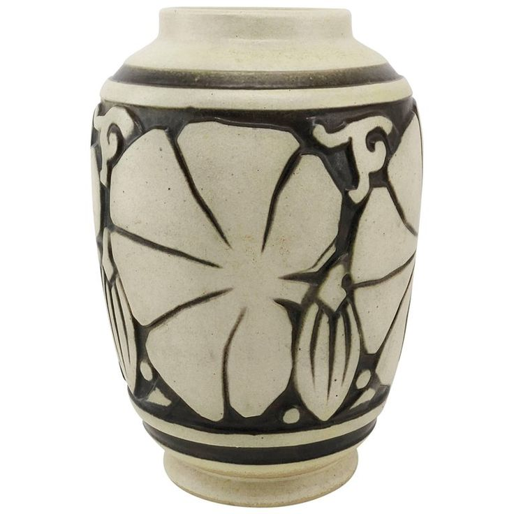 Joseph Mougin and Georges Conde Art Deco Stoneware Vase 'Les Figues', 1925 | 1stdibs.com