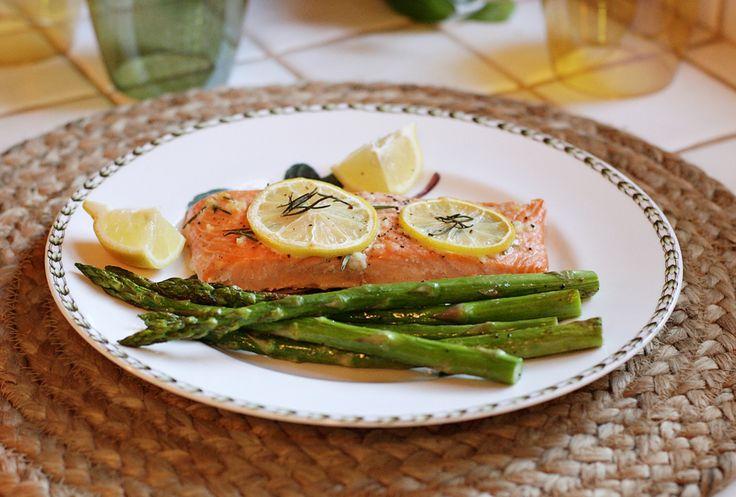 Rosemary lemon salmon :)