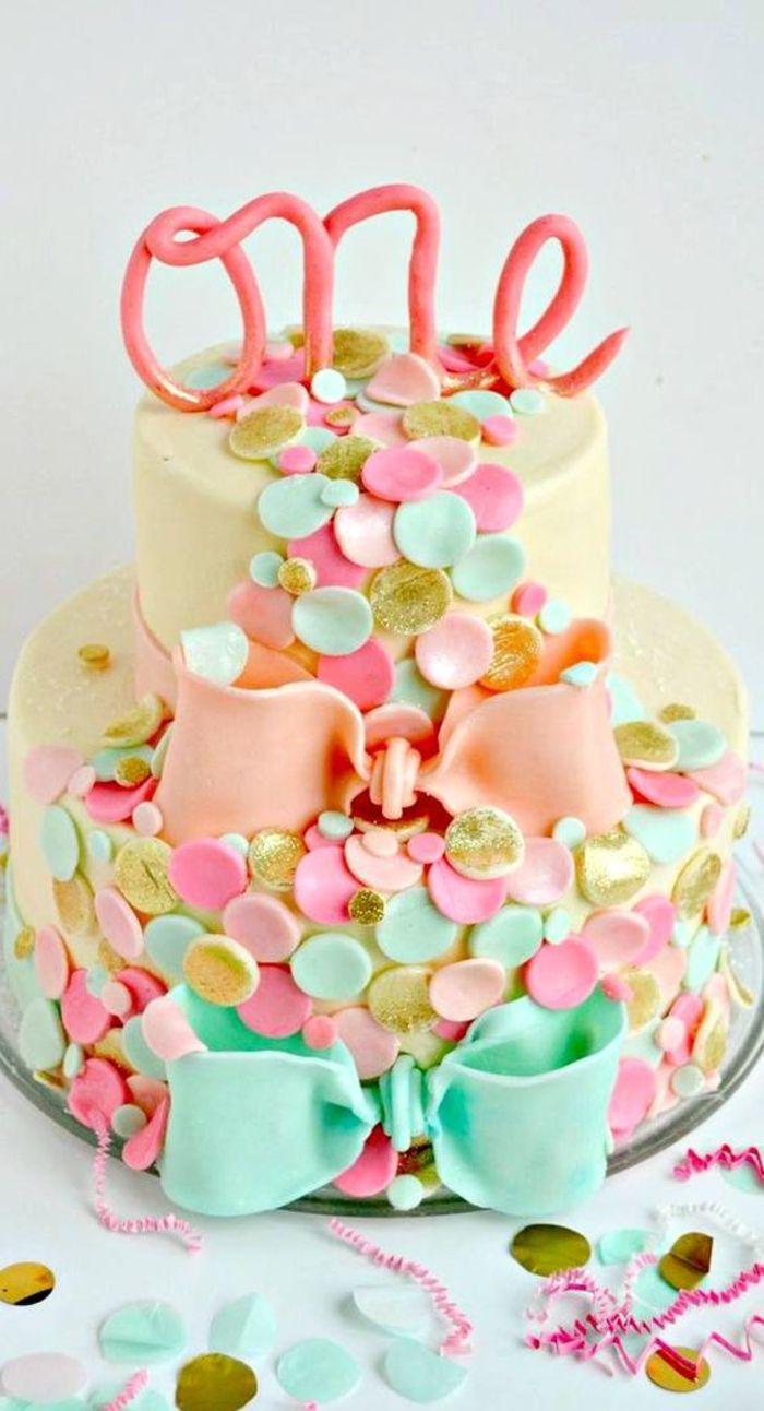 Best 25 gateau anniversaire 1 an ideas on pinterest gateau 1 an recette gateau anniversaire - Gateau 1 an fille ...