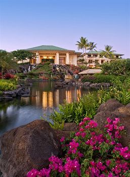 The spectacular Grand Hyatt Kauai Resort. It's right on the beach at Keoneloa Bay, has fresh water pools, a salt water lagoon, an awesome spa and gorgeous, lush, tropical gardens.