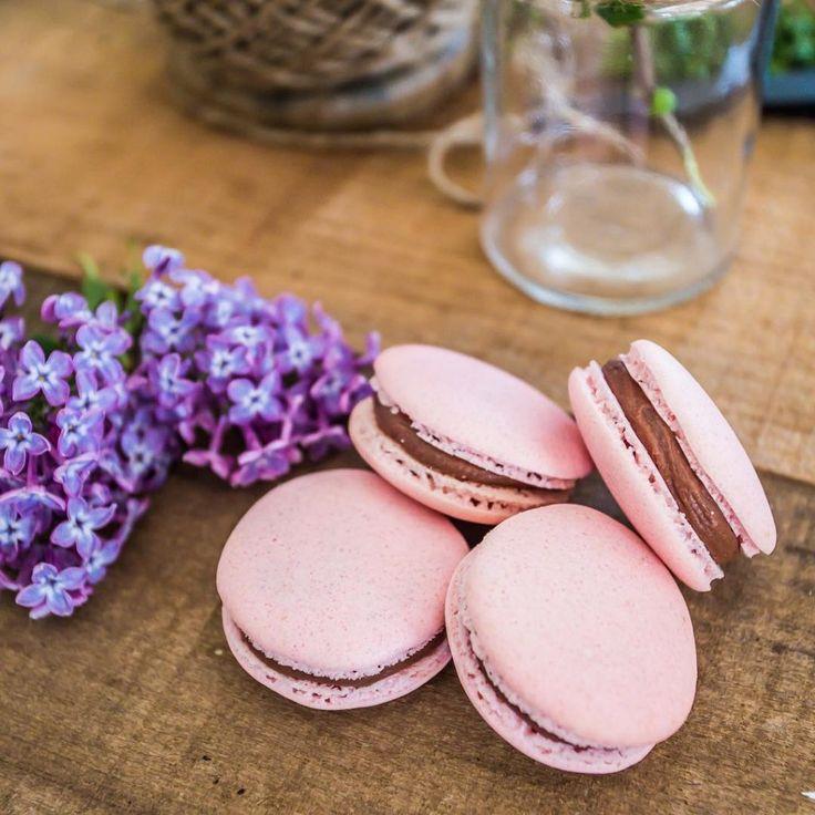 Macaron lamponi e cioccolato fondente