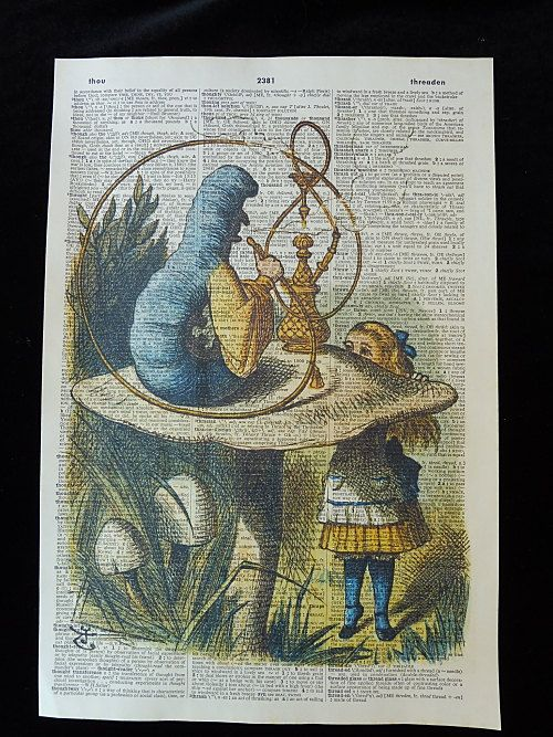 Alice in Wonderland Wall Art Print No.148 mad by DecorisDesigns