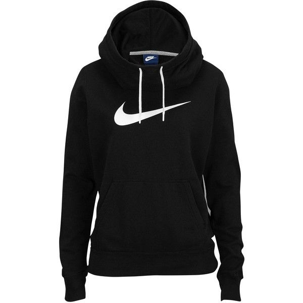 Nike Club Fleece Funnel Hoodie Women's ($50) ❤ liked on Polyvore featuring tops, hoodies, jackets, nike, shirts, fleece hoodies, funnel neck hoodie, hooded fleece pullover, hoodie shirt and shirt hoodie
