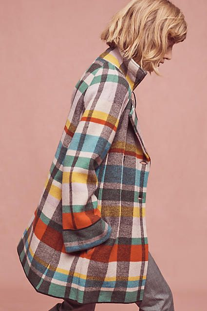 Anthropologie - Tartan Wool Coat