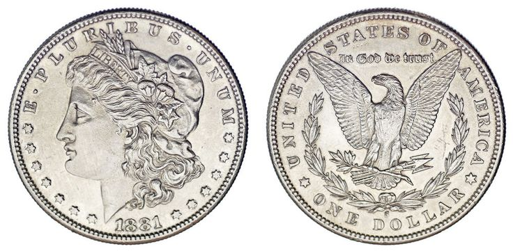 1 SILVER US DOLLAR/1 DÓLAR MORGAN PLATA. SAN FRANCISCO 1881. AU/SC-. NICE/BONITA