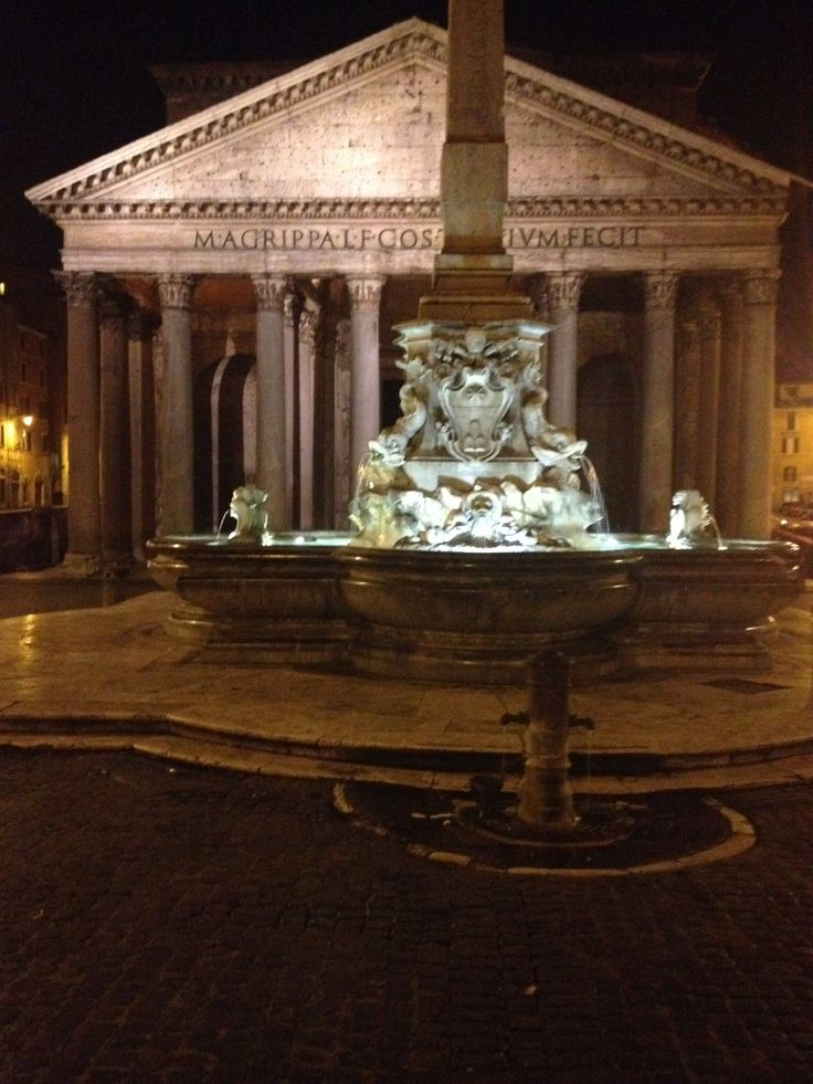 The #pantheon illuminated at night took my breathe away.