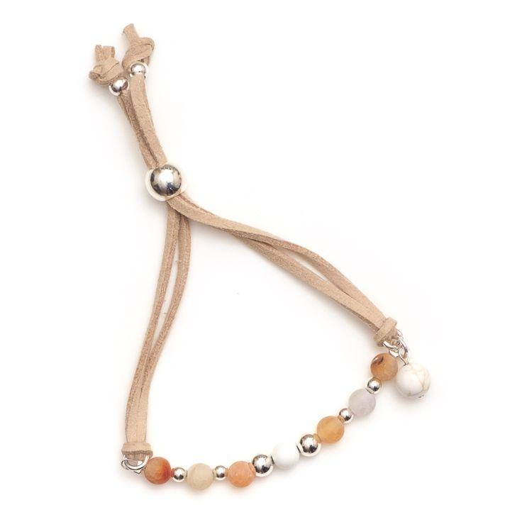 xada jewellery - Boho Tangerine matte Agate bead suede bracelet, $29.95 (http://www.xadajewellery.com/shop-by-collection/xada-boho-tangerine-matte-agate-bead-suede-bracelet/)