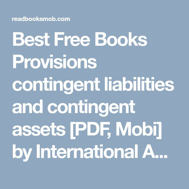 Best 25 international accounting ideas on pinterest sands best free books provisions contingent liabilities and contingent assets pdf mobi by international fandeluxe Image collections