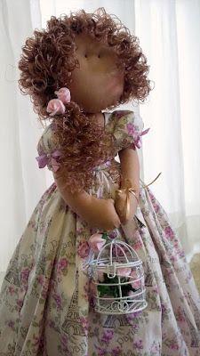 Boneca de pano - molde da Myllita