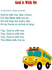 God is with Me Song Printable