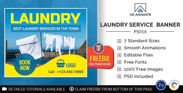 Professional Services | Laundry Service Banner (PS016) | Design