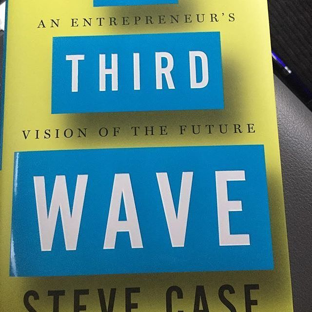 READING: Nabbed a copy of @SteveCase's (cofounder of @AOL) new book #TheThirdWave (thx @incmagazine!) & it's a definite page turner for anyone interested in the way #technology will impact our lives in the #future. It's a #bts look at some of the most impactful business decisions of our time & why its time for entrepreneurs to rethink their approach in this new digital age. Good read so far. Grab an affordable copy on Amazon. #bookstagram #digital #influence #techblogger #marketing #startup…