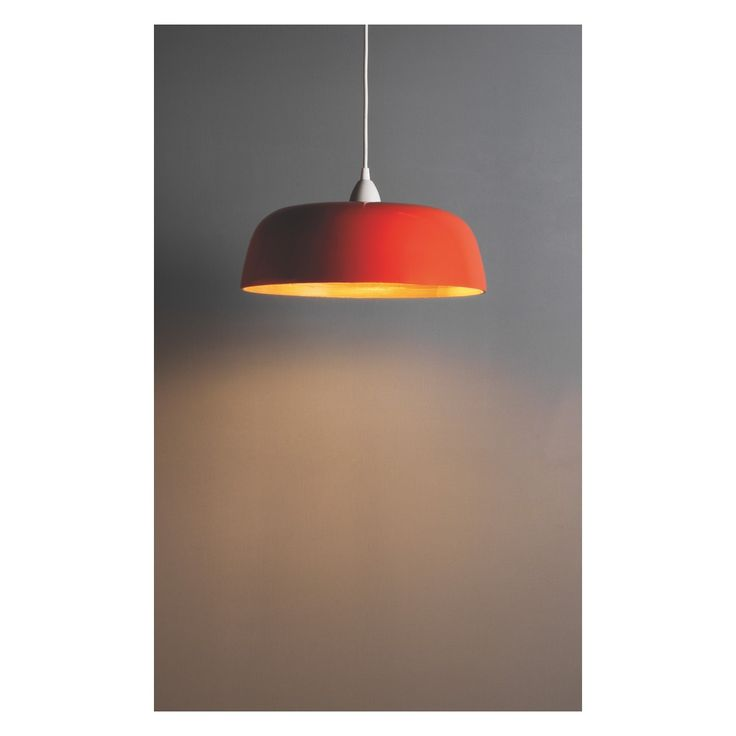MOXLEY Orange bamboo easy-to-fit ceiling shade | Buy now at Habitat UK
