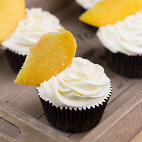 """Objetivo: Cupcake Perfecto.: Cupcakes de """"Melocotones Helados"""", para mi querida Espido Freire"""