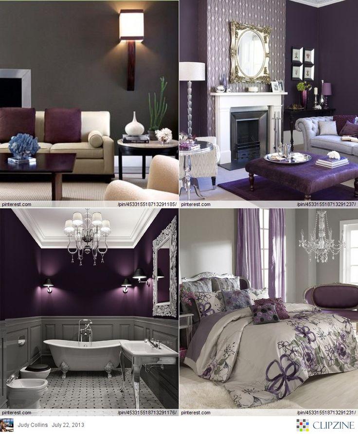 Eggplant Color Decor - Home Decorating Ideas