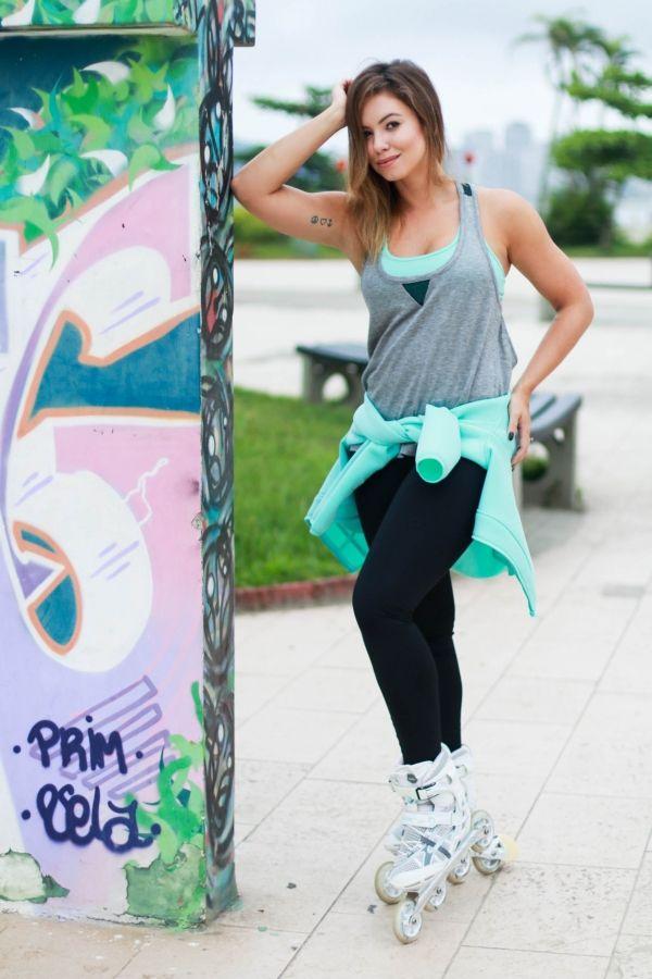 juliana goes | blog | look do dia | forever 21 | patins | patins inline| active forever 21 | roupa de academia | moda fitness | look de academia |