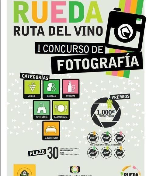 Cartel del I Concurso de fotografía 'Ruta del Vino de Rueda'.
