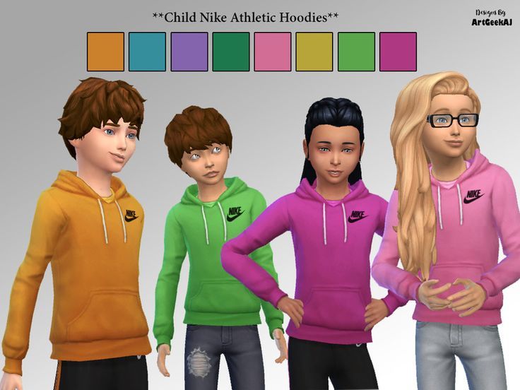ArtGeekAJ's Child Nike Athletic Hoodies