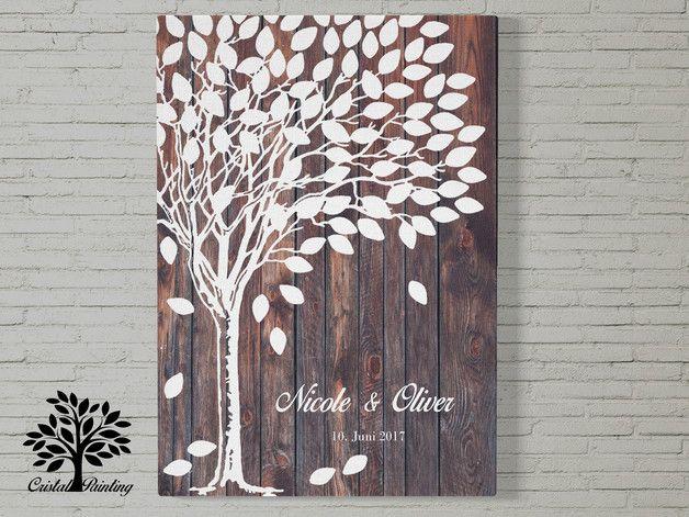 Der Hochzeitsbaum / Gästebuch ist nicht nur eins der schönsten Hochzeitsspiele und ein Klassiker der Hochzeitsgästebücher - er ist auch eins der individuellsten Geschenke zur Hochzeit. Jeder Gast...