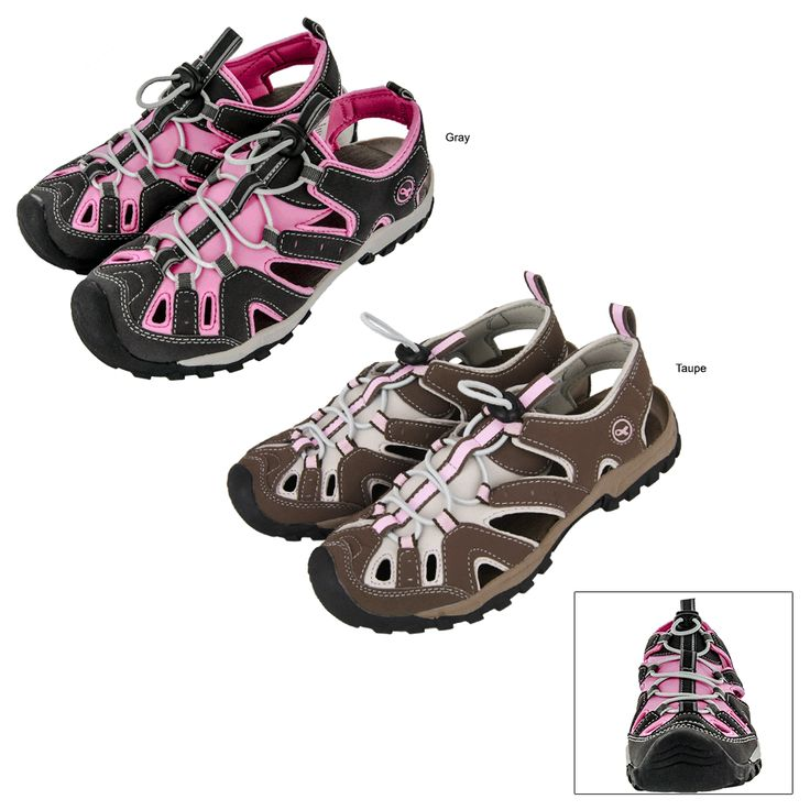 Pink Ribbon Sporty Sandals at The Breast Cancer Site