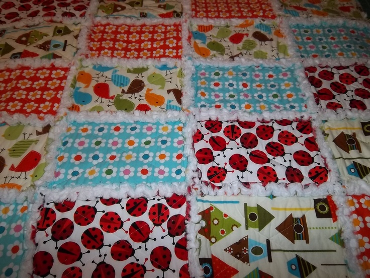 Easy Rag Quilt, Sensory Quilt, Security Blanket Pattern Tutorial w Photos, pdf Rag Quilt ...