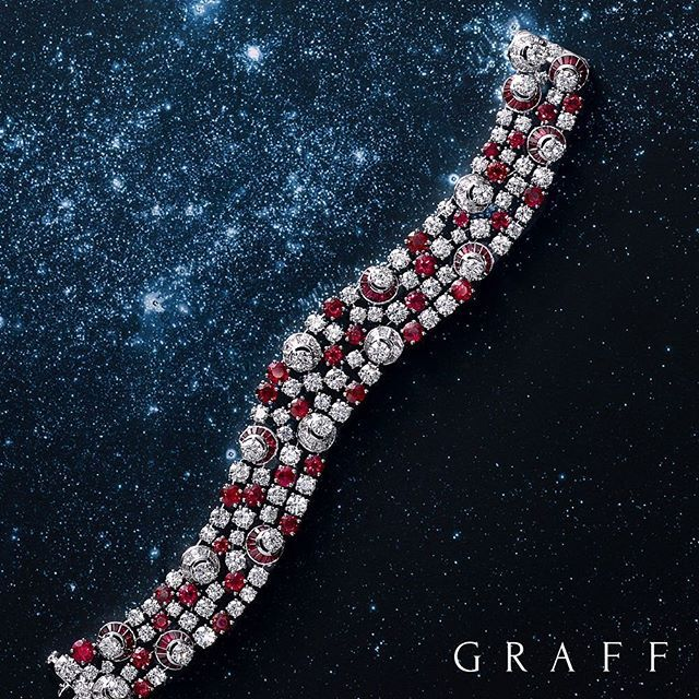 GRAFF bracelet with 300 rubies and diamonds set by hand by Graff's Master Craf...
