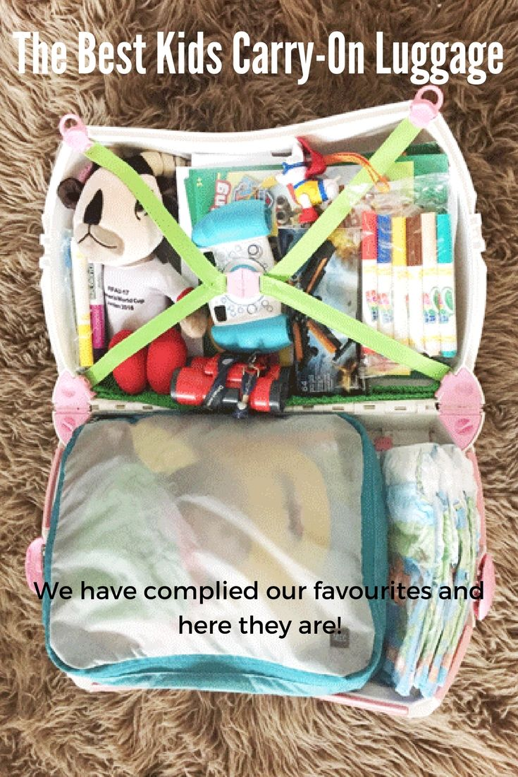 The best kids carry on luggage for your next family vacation!