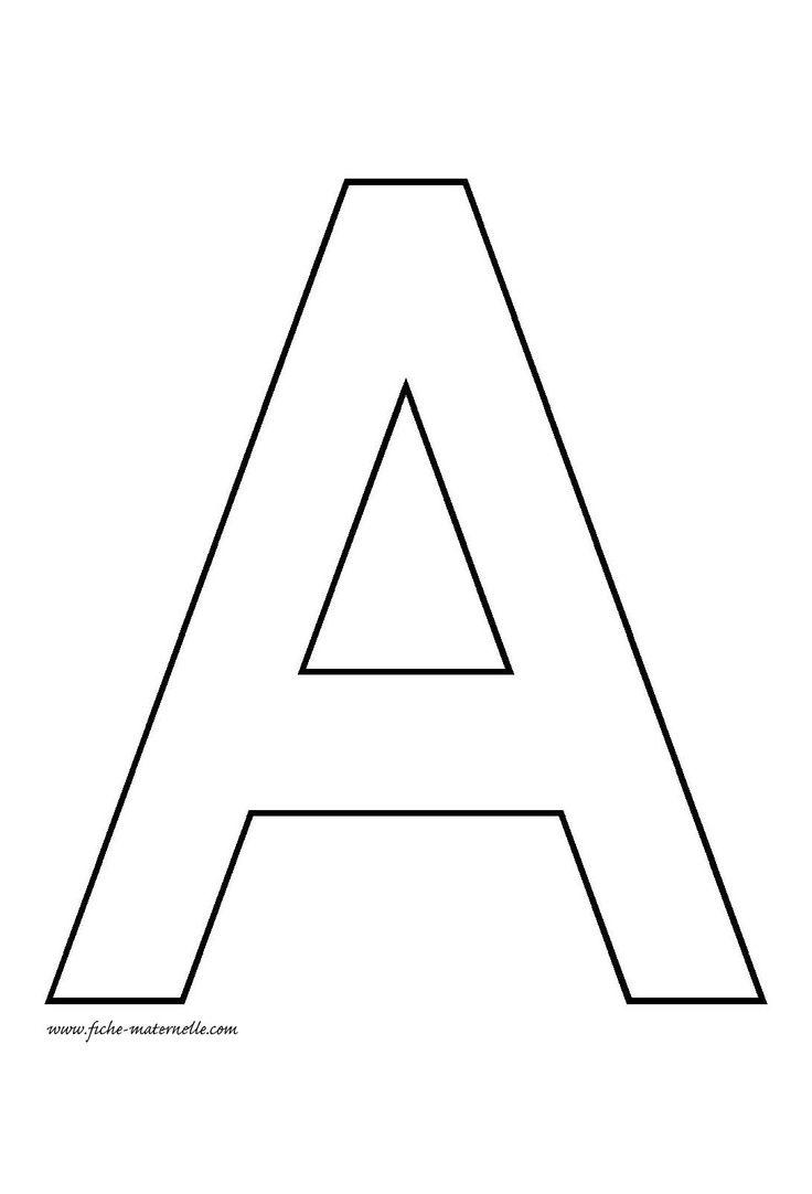 Lettre de l'alphabet à décorer | Lettre a, Lettre alphabet à imprimer
