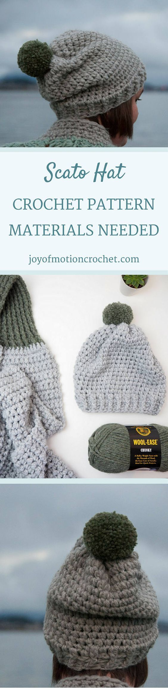 Scato Hat Crochet Pattern ★ Crochet pattern for the Scato Hat, a winter hat/beanie. ★ Easy to modify if you want to change the size. ★ Size: 12-18 months, 18-24 months, 2-5 years, Child, Teen, Adult Woman, Adult Man ★ Skill level: EASY ★ Language: English / US crochet terms. The Scato