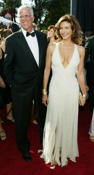 Ted Danson with wife Mary Steenburgen at 2004 Emmy Awards - The Most Gorgeous Emmy Dresses of the Last 10 Years - StyleBistro