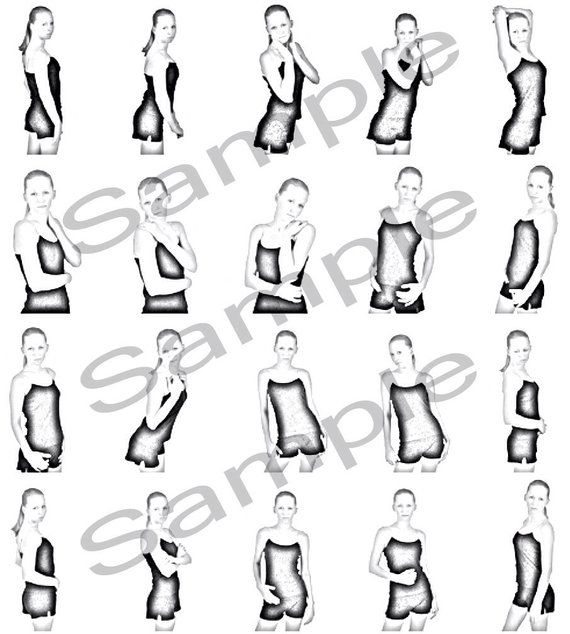 This posing guide PDF, featuring hundreds of poses, is