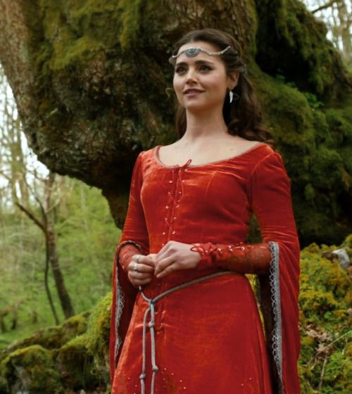 Jenna Coleman as Clara Oswald in Doctor Who - Robot of Sherwood (TV Series, 2014).