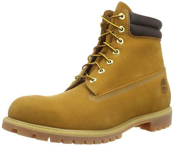 Timberland 6 In Classic Boot_6 In Classic Boot_6 in Double Collar Boot, Herren Kurzschaft Stiefel, Braun (Wheat Nubuck), 43 EU