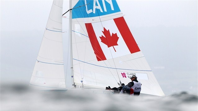 Richard Clarke and Tyler Bjorn of Canada compete in the men's Star