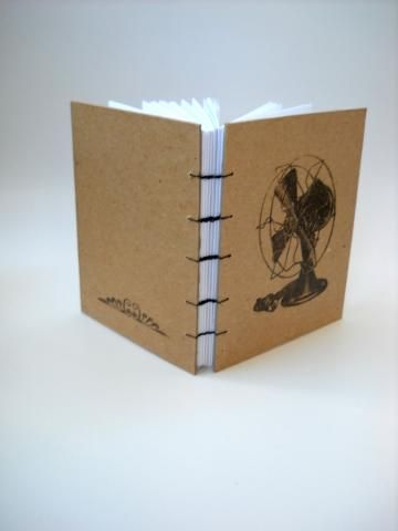 Retro Fan Journal on Kraft by The Altered Diaries on Zibbet.