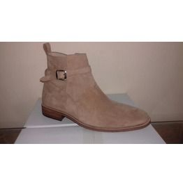 Handmade Men Light Beige Jodhpurs Ankle Boot, Men Genuine Suede Boots, Mens