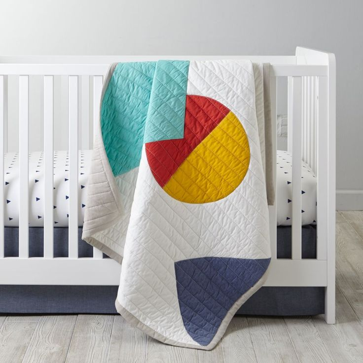 Shop Polygon Crib Bedding.  Featuring an eclectic mix of colors and shapes, our multifaceted Polygon Baby Bedding will get your crib shaped up in no time.