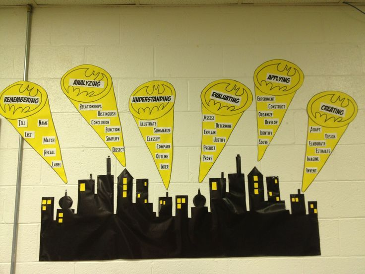 batman classroom theme - good place for a superhero motto. Image only