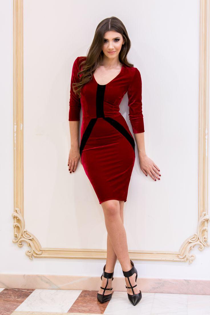 Velvet occasion dress by Miss Grey