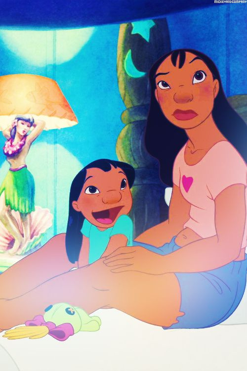 Lilo and Stitch. I love that these girls had real shape to them.  And they're beautiful and smart, and gah.  Just love it all.