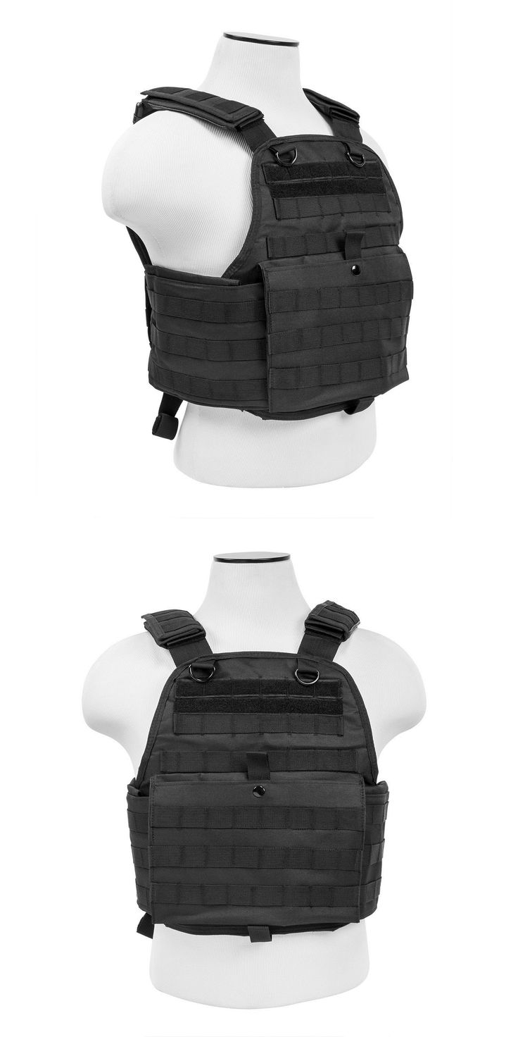 Clothing and Protective Gear 159044: Ncstar Plate Carrier Airsoft Tactical Vest : Black : *Free Shipping* BUY IT NOW ONLY: $49.98