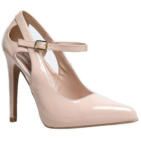 Qupid Virtue-26 Women's Mary Jane Cut Out Stiletto Heels