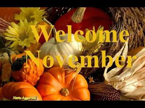 Hello Welcome November Greetings/Quotes/Sms/Wishes/Saying/E-Card/Wallpap...