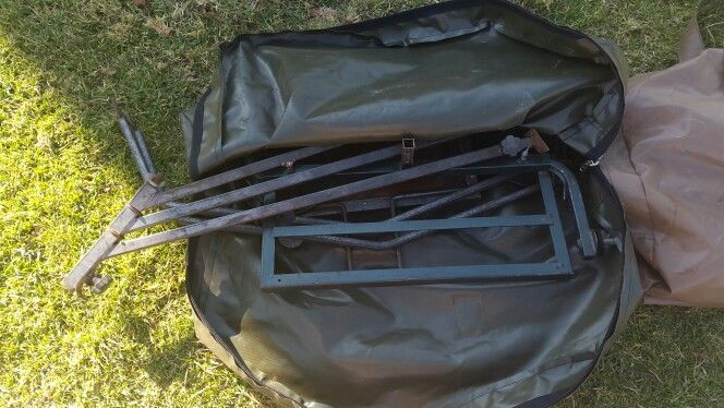 Fishing stand bag... We manufacture hunting and fishing equipment storage bags in weather durable materials. We also manufacture hunting meat bags. For more info email us at exclusiveoutdoorblinds@gmail.com or like us on Facebook.