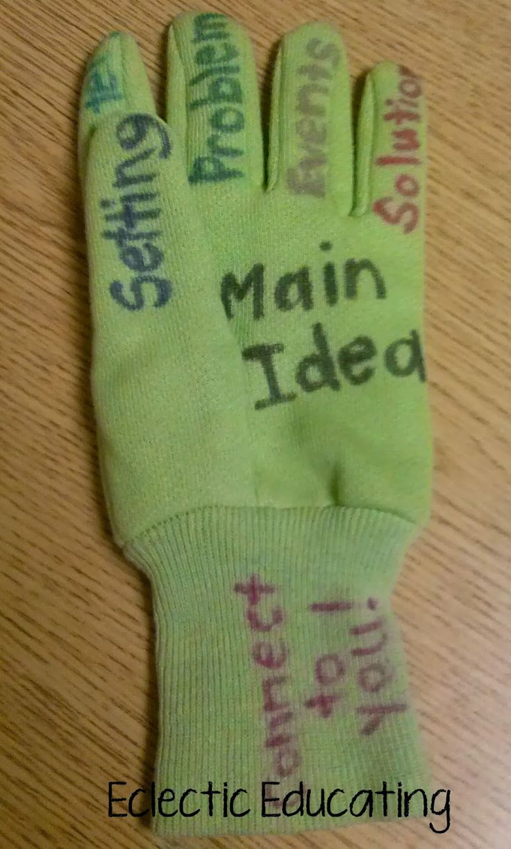Eclectic Educating: The Retelling Glove!