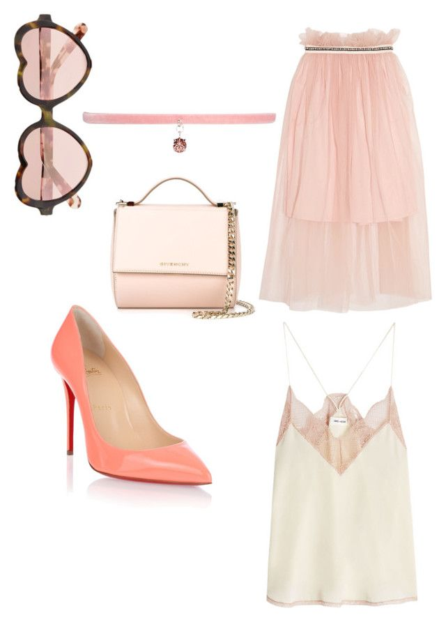 """Rose"" by jennifer-gottschalk on Polyvore featuring Mother of Pearl, Zadig & Voltaire, Christian Louboutin, Givenchy, Cutler and Gross and Joomi Lim"